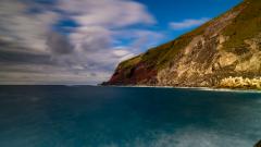 青ヶ島の海岸