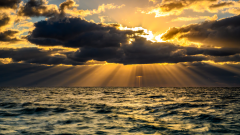 青ヶ島の夕陽