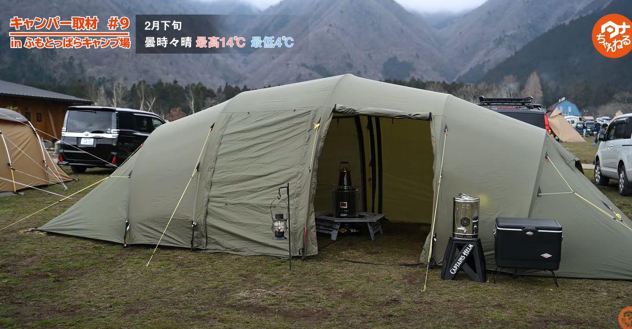 ヘルスポートのテント