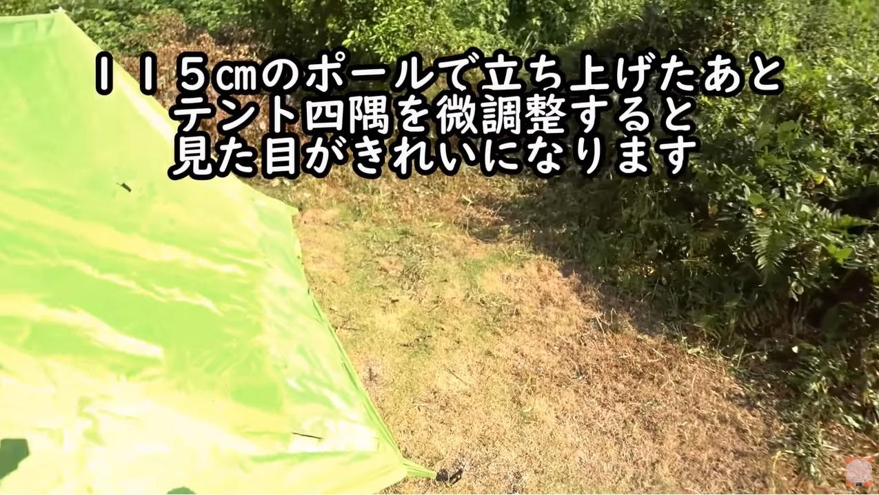 パップテント:【8tail】ミセスパップの寸法
