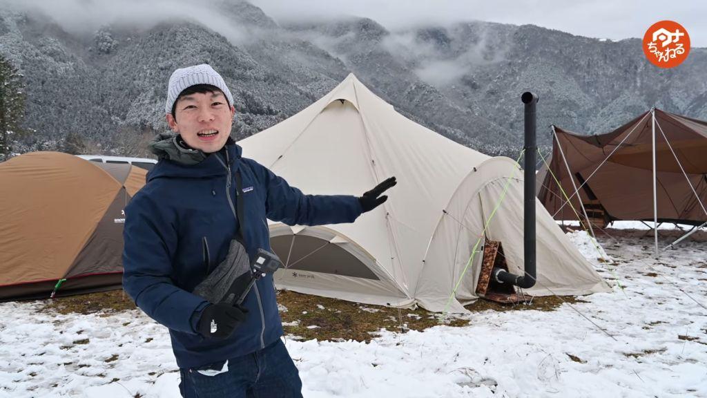 テント前のタナ