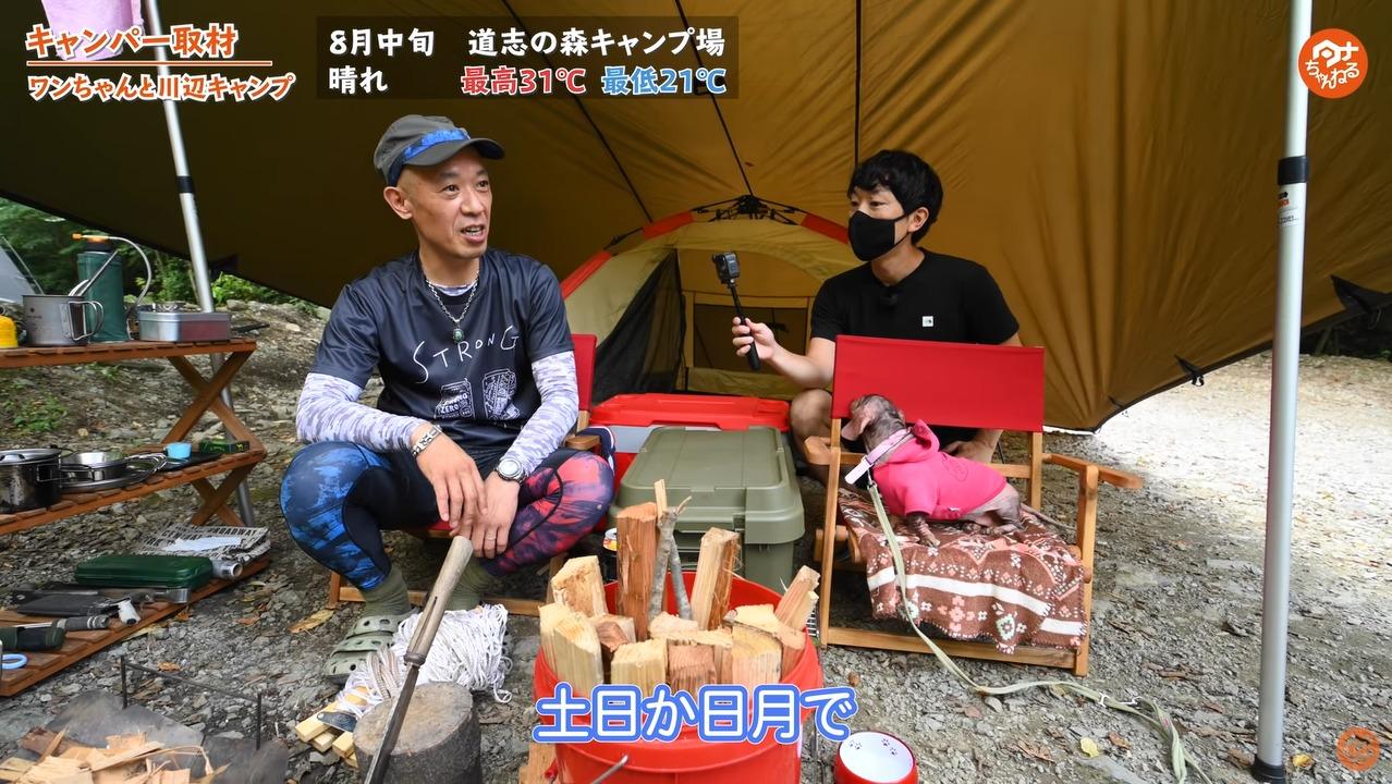 土日 日月 キャンプ ワンちゃん