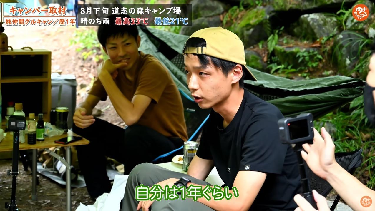 道志の森キャンプ場 グループキャンパー