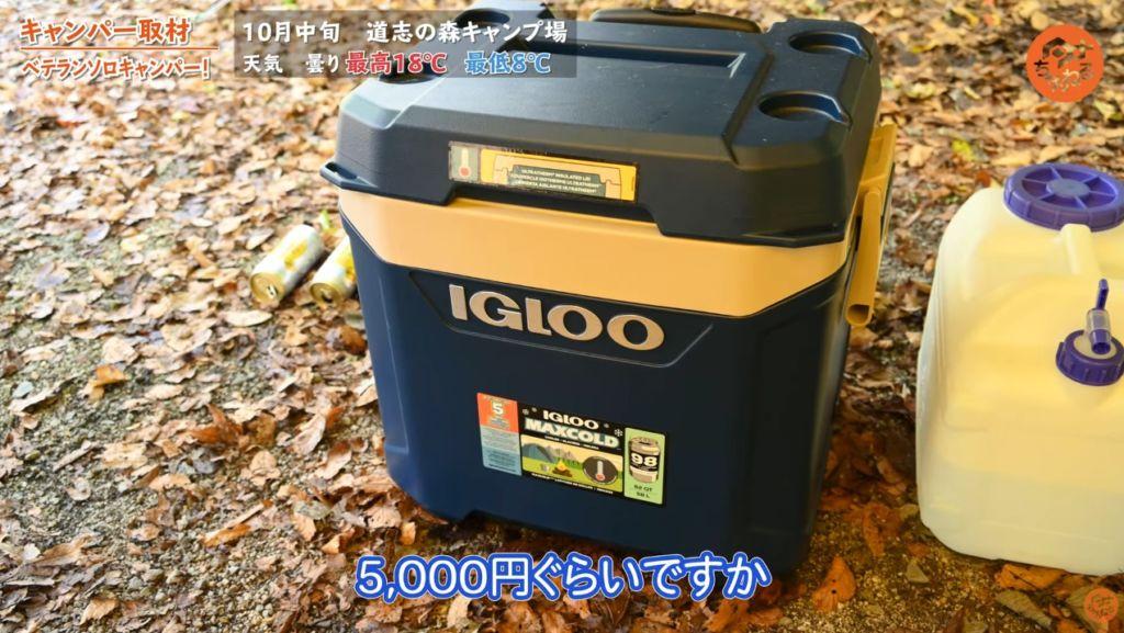 クーラーボックス:【IGLOO】マックスコールドクーラーボックス57L