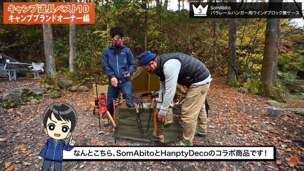 SomAbitoとHanpty Decoの銘コラボ『パラレールハンガー用ウインドブロック兼ケース』