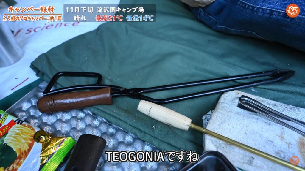 薪ばさみ :【TEOGONIA(テオゴニア)】Fireplace Tongs