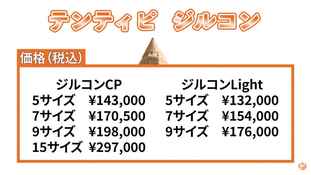 ジルコン 価格表