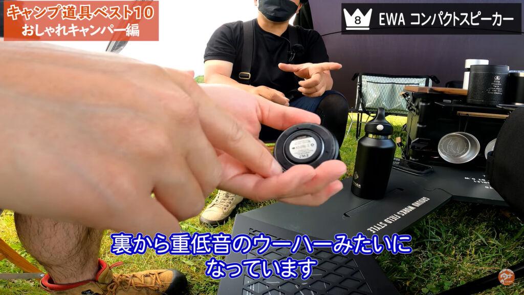 EWA コンパクトスピーカー 裏面